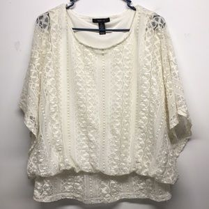 Style Pullover Pancho style Baloon Blouse LG